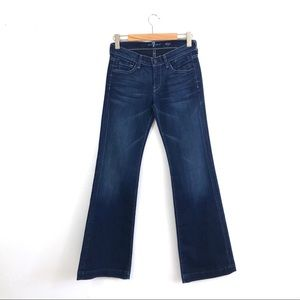 7FAM 7 For All Mankind Dojo Blue Flare Jeans